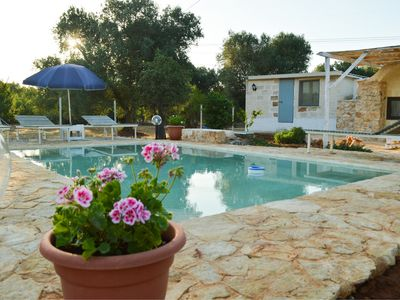 Photo for Lamia with private pool and organic vegetable garden