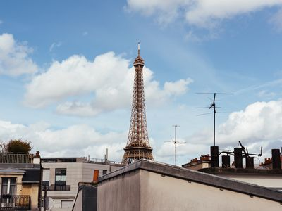 Photo for Adorable Parisian Studio with View of Eiffel Tower