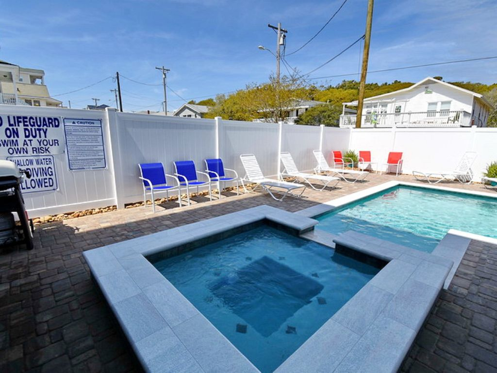 Living Coastal, 5 BR Luxury Home Across the Street from the Ocean with Salt Water Pool and Hot Tub