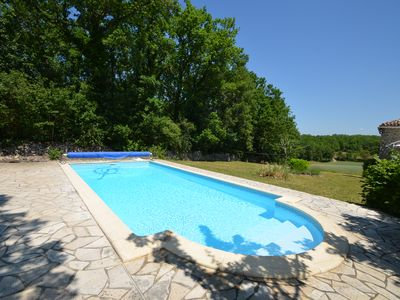Photo for Charming stone house with pool and garden