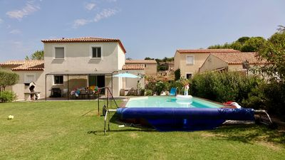 Photo for VILLA WITH POOL AND TRAMPOLINE IN CHARMING VILLAGE WINE