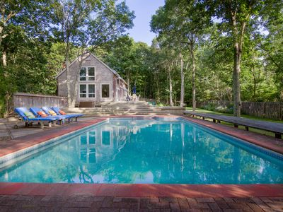 Photo for Perfect Hamptons Beach House - Pool, Tennis Courts, Private Beach