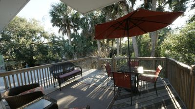 Photo for Folly Courtyard Entry with Sun Deck - Pet Friendly!