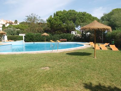 Relax in the spacious communal garden and pool