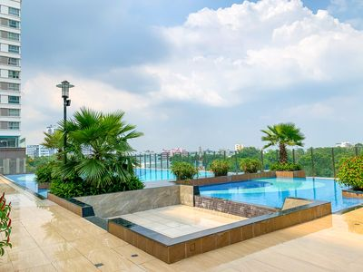 Photo for Lux apartment next to airport 1BR. Cozy, Studio; free Pool, Gym, BBQ