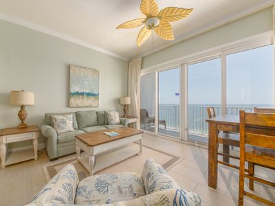 Photo for Picturesque condo in Perdido Key! Directly on beach! Incredible gulf-front views! Free Wi-Fi.
