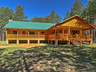 Photo for Forest Lakes Cabin on 1 Wooded Acre w/Great Deck!