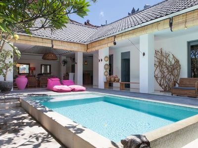 Photo for Charming villa private pool three bedroom residential quarter of seminyak