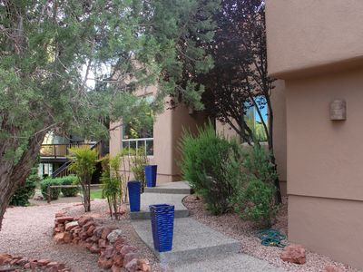 """Photo for Adobe Home, Eclectic Decor,  Good Views, Choice Location, Quiet, 70"""" TV, WiFi"""