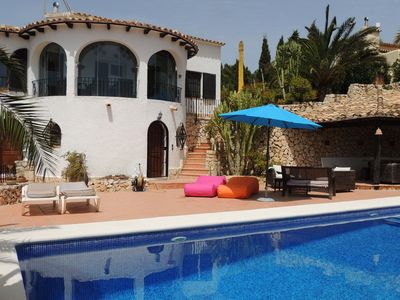 Photo for BEAUTIFUL VILLA SEA VIEW NEAR LA FUSTERA BEACH