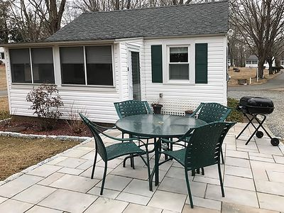 NEW in 2019! Photo JUST taken - Outdoor patio to enjoy summertime dining!