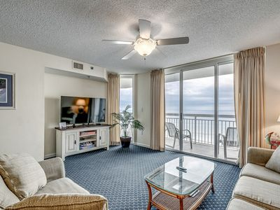 Photo for Stunning ocean and beach views from this 3 bedroom condo! | Crescent Shores N. -  602