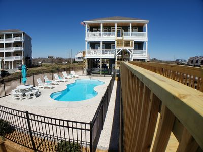 Photo for Shore Therapy: 5 BR / 6 BA house with pool in North Topsail Beach, Sleeps 14