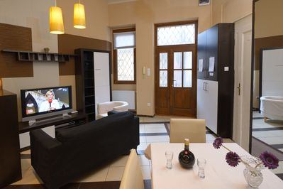 Apartment 1 - living room with TV corner