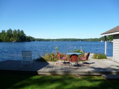 Photo for Adirondack Beauty!   110 ft Lake Frontage House - Private Beach; Kayaks, Canoe