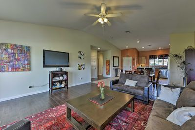 Unwind in the spacious living room after a day on the golf course.