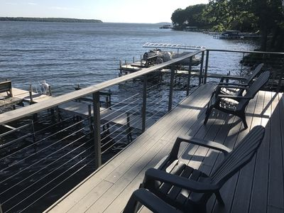 Upper Deck of Four-Bedroom Boathouse