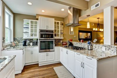Gourmet open-concept chefs kitchen with convection oven!