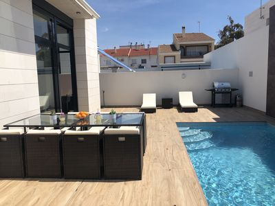 Photo for Brand new town villa with pool - Villa Vincent