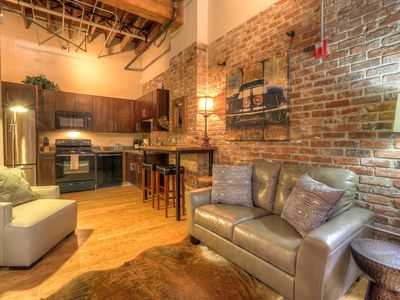 Photo for Walk to Honky Tonks! Downtown Nashville Loft 50-70% off M-W! Waylon, Sleeps 2 Nashville Vacation Rentals by MusicCityLoft on VRBO
