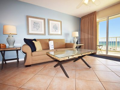 Photo for Direct Ocean View from 3rd Floor. Easy access to pool,  Beach Svc Incl - gd203