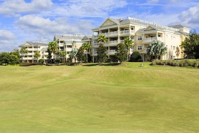Your condo backs up to the beautiful fairways of the Reunion golf course.