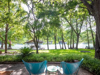 Photo for Sunset River Haus- Waterfront Home Only 6 Miles from Schlitterbahn!