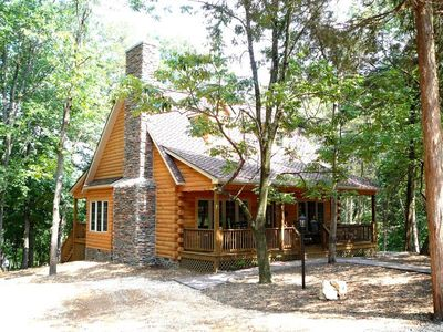 """Photo for Luxury Shenandoah Valley Secluded River Cabin with all the amenties you need for """"Rejuvenating You"""