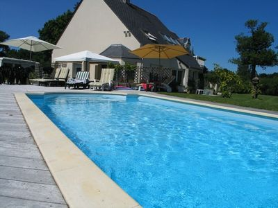 Photo for Self catering apt and separate studio, heated swimming pool,  St Malo Golf Club