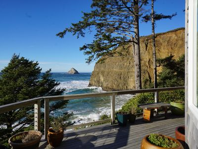 Photo for Spectacular Luxury Oceanfront Home with Hot Tub on Deck steps to beach