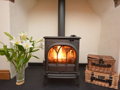 Light the wood burner, relax on the sofa and maybe watch a film