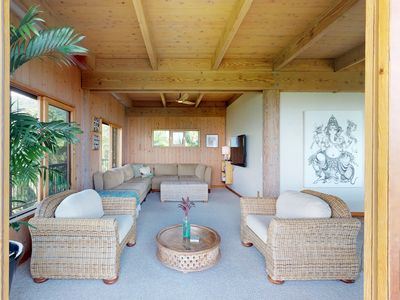 Photo for NEW LISTING! Ocean view house on mango farm w/balcony & private setting