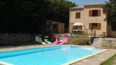 Photo for Rental villa in Corsica (Balagne) with pool