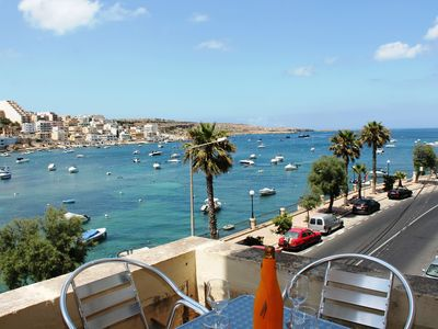 Photo for Blue Harbour 1 – Seafront Holiday 2-bedroom Apartment with terrace St Paul's Bay