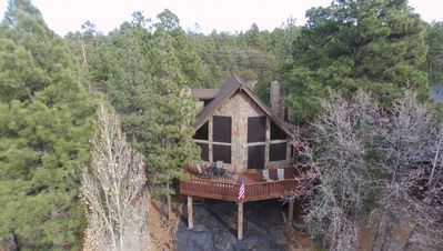 Beautiful 3 story chalet backing National Forest