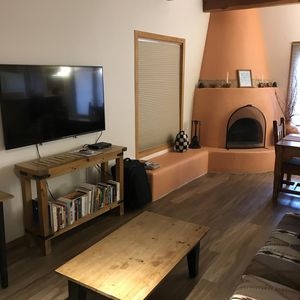 Living room, TV, firplace