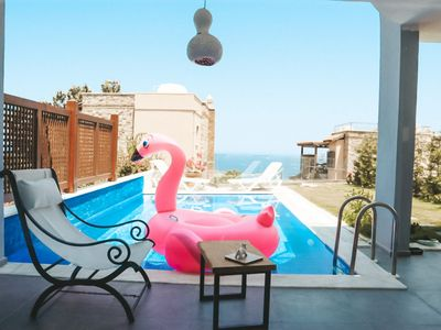 Photo for Beautifully clean 3 bed duplex Villa with Sea View and Private Pool