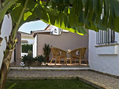 Photo for Bungalows for 4 persons, with free WiFi, large common pool and private garden and outdoor kitchen with grill