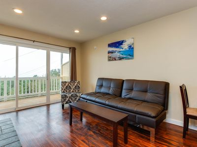 Photo for Dog-friendly condo with beach access & ocean views from private balcony!