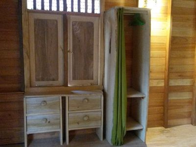Handcrafted wardrobe and chest of drawers