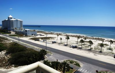 view of Gulf from 7th floor landing