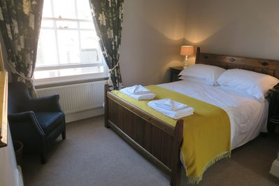 main bedroom with new mattress, well equipped and antique furniture