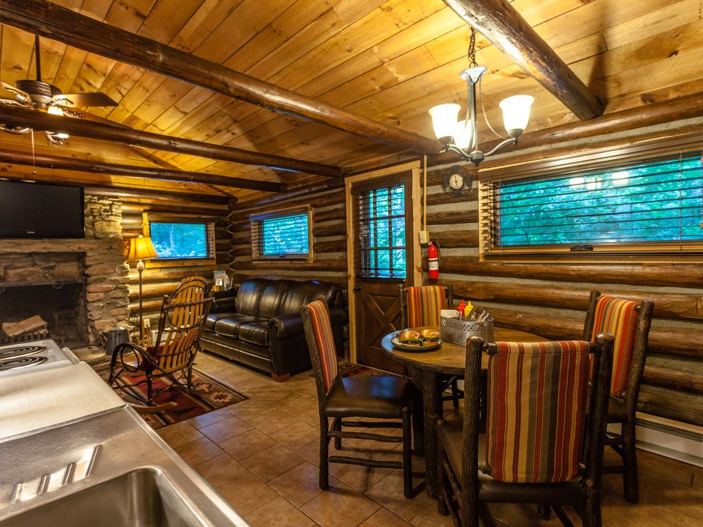 Country Cabin Tranquil Authentic Log Cabi Vrbo