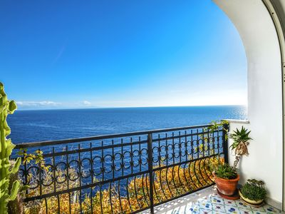 Photo for Apartment-Amalfi Coast-sea view-parking-air conditioning-wifi