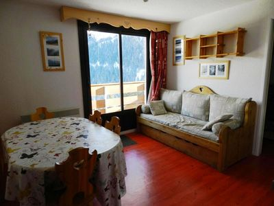 Photo for Surface area : about 30-32 m². View ski slopes OR View valley. Living room with bed-settee
