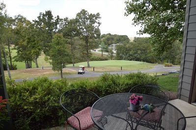 Amazing views of the course off the back deck.