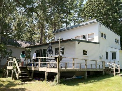 Photo for Spacious, 3 Bedroom Cabin On Long Lake, steps from water
