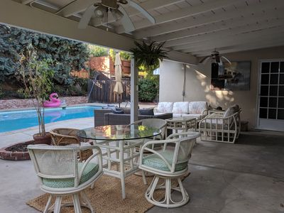 Photo for Charming mid-century modern LA ranch house with pool!!! :)