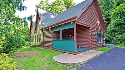 Photo for Cabin Sweet Cabin; kid & pet friendly; hi-speed/cable/WiFi; rock outcroppings