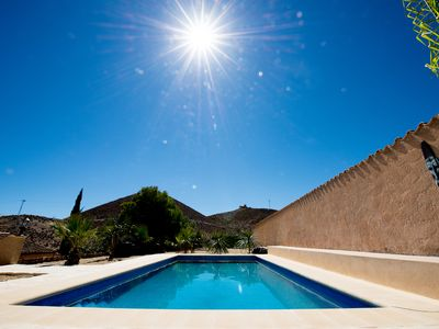 Photo for Finca, holiday house, private pool and sea view, 13 minutes to the sea